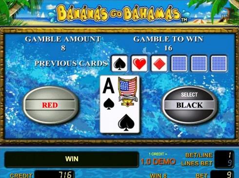 Риск игра в Bananas go Bahamas