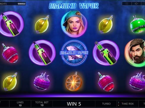 Выигрышная комбинация на линии в Diamond Vapor