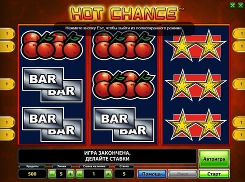 Казино с моментальным выводом денег - Hot Chance