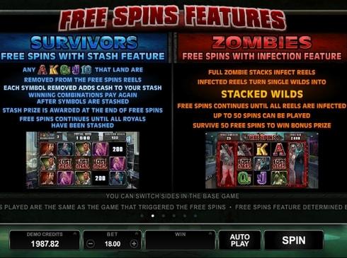 Описание фриспинов в онлайн игре Lost Vegas