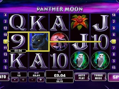 Призовая комбинация с диким знаком в Panther Moon