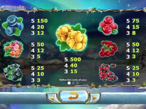 Таблица выплат в Winter Berries онлайн
